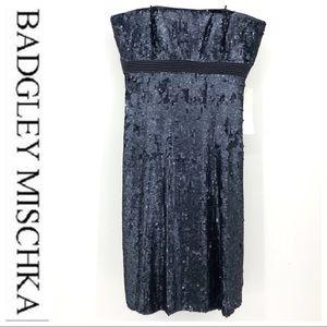 💕SALE💕 NWT Badgley Mischica Blue Sequins Dress
